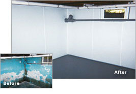 Captivating Basement Waterproofing Before And After ... Home Design Ideas