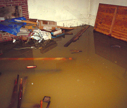 Wet, Leaky, Flooded Basement in Hartville