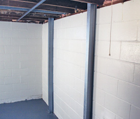 Foundation wall reinforcement system in Yorkville, OH
