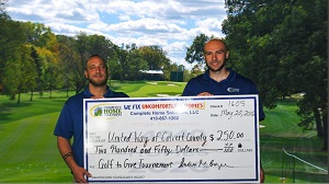 United Way of Calvert County Golf to Give donation