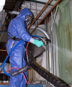Installing spray foam in commercial building