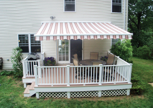 Retractable awning installation in New York
