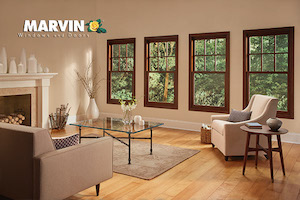 Marvin living room windows