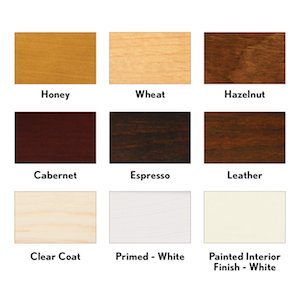 Wood stain options