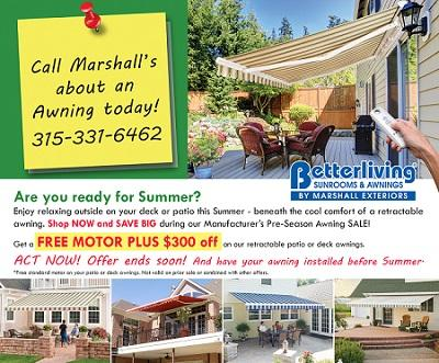 get a new sunroom or awning for your Fairport home