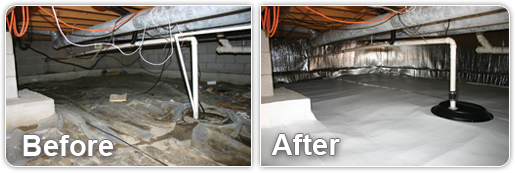 Crawl Space Vapor Barrier System Installation In Portland
