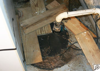 Clogged sump pump system in Portland, OR