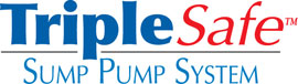 Sump pump system logo for our TripleSafe, available in areas like Medford