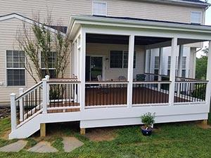 Screened in deck