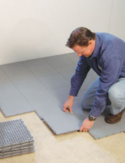 Installing a Waterproof Basement Sub Floor in Swan River