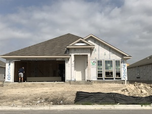 New construction in progress in Texas