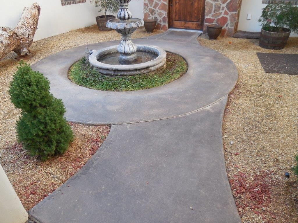 Before photo of Overlay concrete sidewalk install