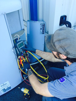 Furnace service performed by expert HVAC contractor in Seaside