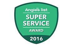 Xterior Solutions Angie's List Super Service Award 2016