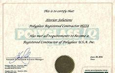 Xterior Solutions PolyGlass Registered Contractor