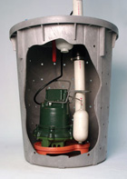 Picture of our award-winning crawl space sump pump
