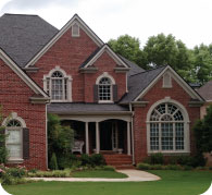 Roof Replacement Example Brick House