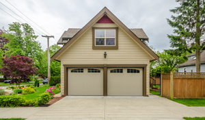 Custom-built detached garage