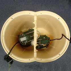 a sump pump liner with two Zoeller sump pumps in Harrison