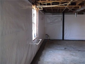 waterproofed basement