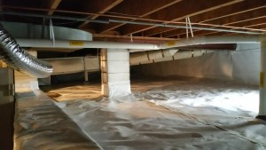 Encapsulated crawl space in Allentown