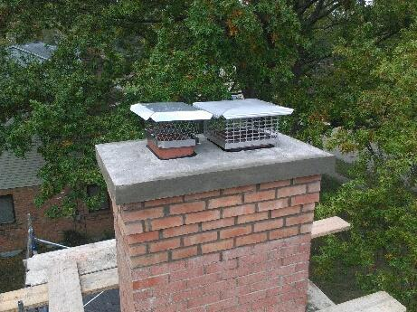 Concrete Chimney Cap Replacement
