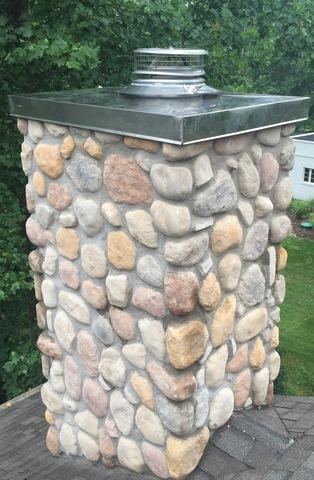 Stainless steel masonry chimney chase cover