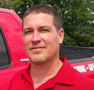 Aaron Page, General Manager, is in charge of day-to-day operations at Bone Dry Masonry.