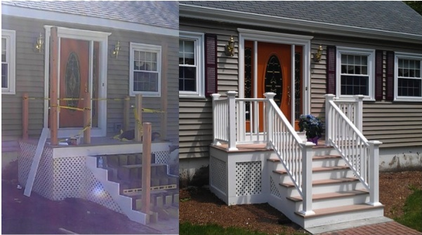 This is a job-site off Chestnut Street in Wilmington, MA. We also did the siding and gutters on this home....