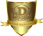 10-year labor and product warranty