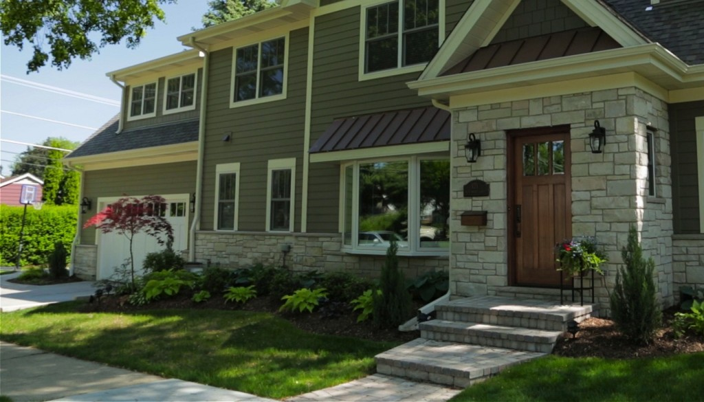 Update your walkway to enhance subdued James Hardie siding colors