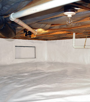 A complete basement waterproofing system in Aynor, SC