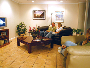 Basement Living Room- Basement Finishing Dubuque, WI