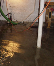 Sump Pump that Lost Power in a Grand Centre basement