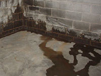 Water Flooding Into A Edmonton Through The Wall Floor Joint Most Common Way Basement Leaks