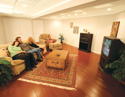 Wood Basement Floor In Edmonton Millcreek Laminate