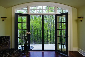 Phantom retractable door screen