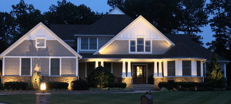 Outdoor Landscape Lighting In Wall Township Brick Point
