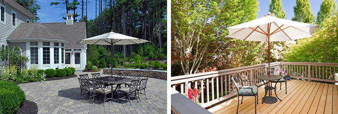 Your deck or patio project can be a customized design that incorporates all the right features and is built to last.
