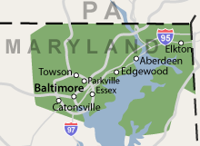 Maryland Wet Basement/Crawl Space Service Area