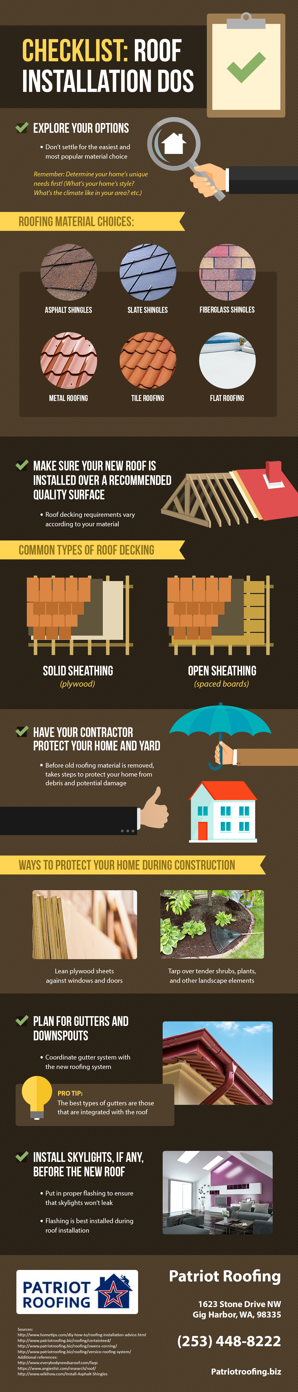 Getting a new roof for your home? See this infographic to know the things that you should do to ensure...