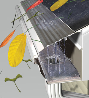 MasterShield gutter guards keep leaves and other debris out of your gutters.