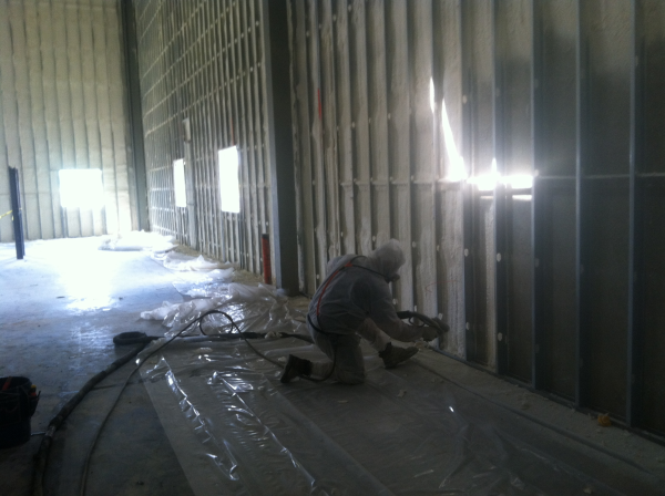 spray foam, walls, commercial building, open cell, closed cell, icynene, coastal insulaton