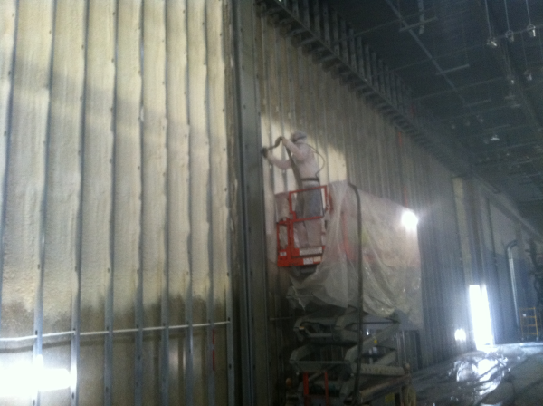 commercial spray foam, warehouse, industrial, Pittsburgh, PA, icynene, spray foam, open cell, closed cell