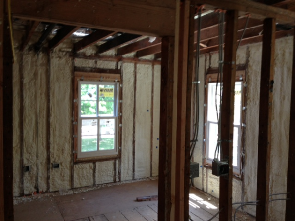 Lyman Construction, princetown NJ, Open cell, spray foam, renovation