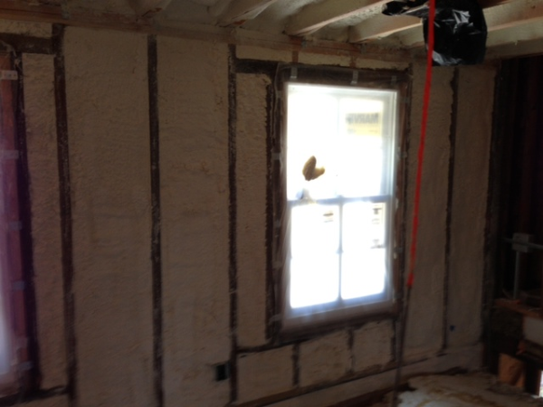 coastal Insulation, open cell, spray foam insulation, Princeton NJ, Renovation, single family home
