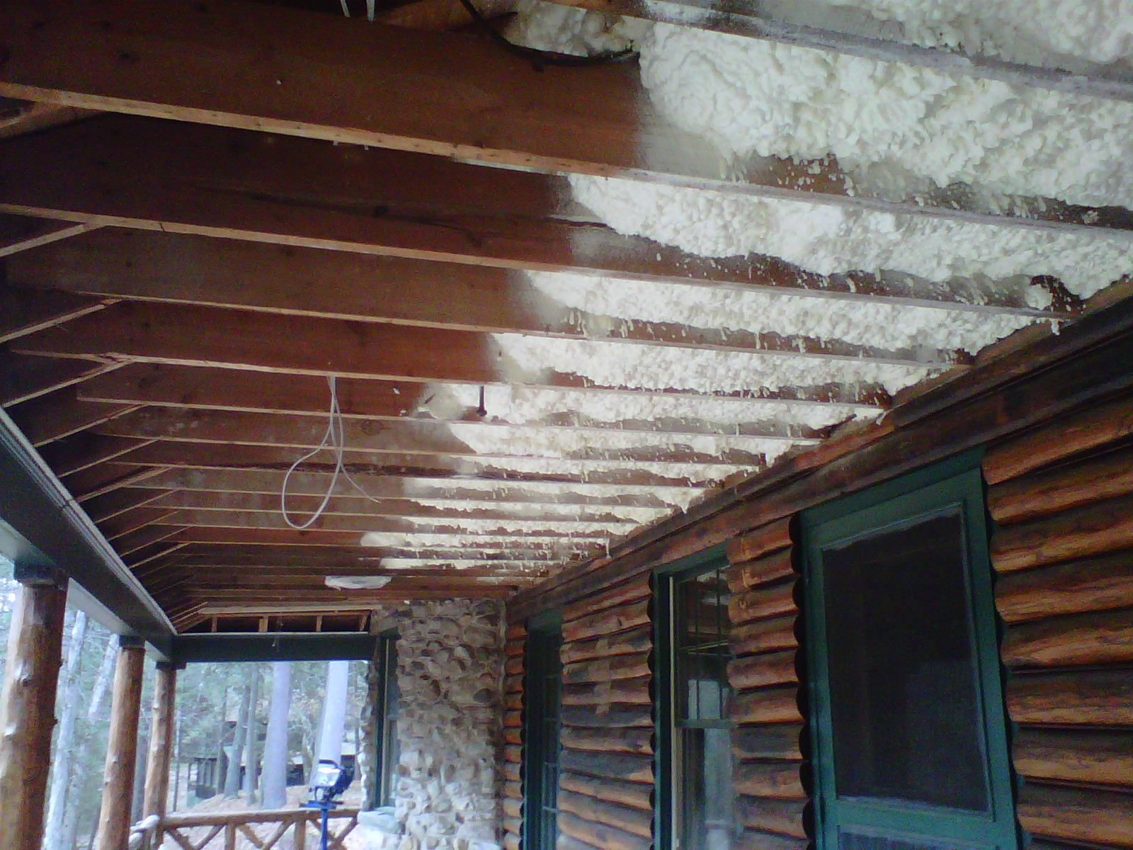 Cronk Construction utilized open cell foam in the attic and overhang of this residential renovation in Forestburg, NY. Spray foam...