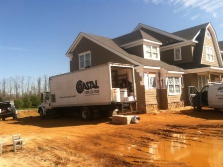 Forefront Homes employed Coastal to install open cell spray foam throughout this new construction residence in Colts Neck, NJ, including...