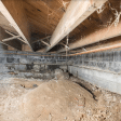 a failing crawl space support