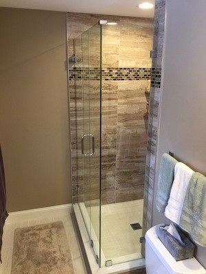 we can handle minor updates or a major bath remodel